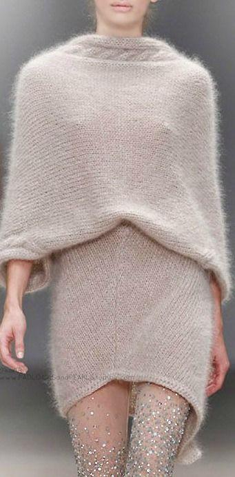 DAVID TOMASZEWSKI Mini sweater dress : sparkle embellished tights