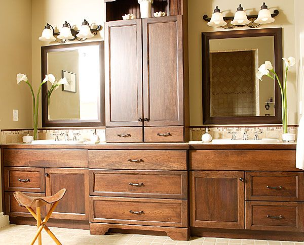 more of what I'm looking to do in the bathroom.... smaller scale, with medicine cabinets built into the sides...