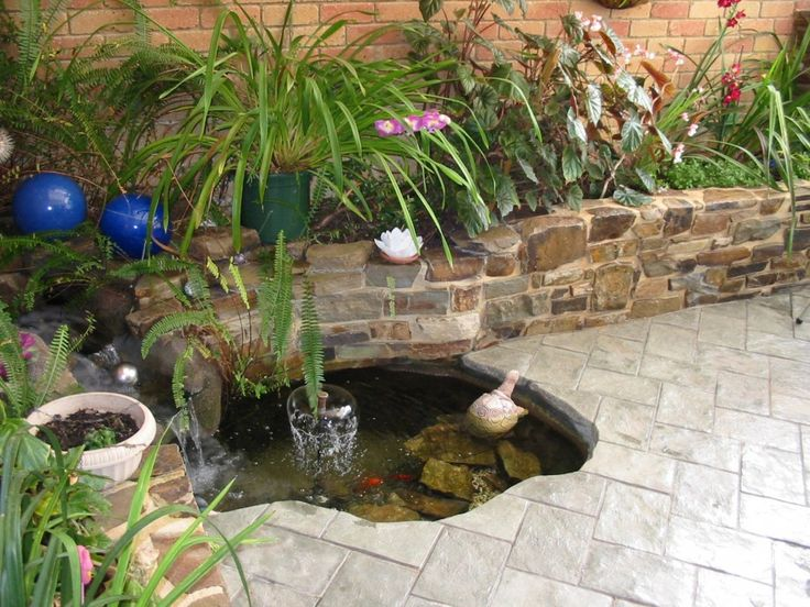 Waterfall Into Fish Pond Fayetteville Small Pond Waterfall .