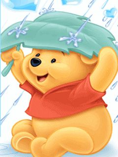 animated pooh bear   Animated GIFs » Cartoons » raining on pooh bear