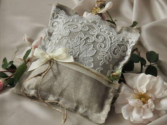 Ring Pillow Ring Bearer Pillow Wedding Pillow by DecorisWedding
