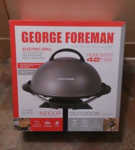 Grills and Griddles 20675: (24 Hr Sale)... Nib.Sealed.George Foreman 240 Indoor Outdoor Electric Grill -> BUY IT NOW ONLY: $74.75 on eBay!