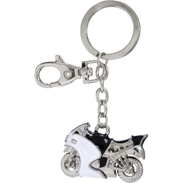 A motorbike design promotional keyring in a gift box which can be embossed with your logo. This great looking promotional keyring is modelled on a racing motorbike, making this the perfect promotional accessory for motorcycle manufacturers, distributors or enthusiasts. It comes in a gift box that can be embossed with your logo, giving you a great looking corporate gift for employees or clients. https://www.corporate-gifts-co.com/motorbike-keyring.html