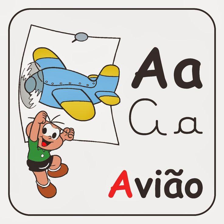 Lindo Alfabeto completo da turma da mônica e vem ilustrado, oAlfabeto turma da mônica ilustrado está pronto pra imprimir, os personagens da...