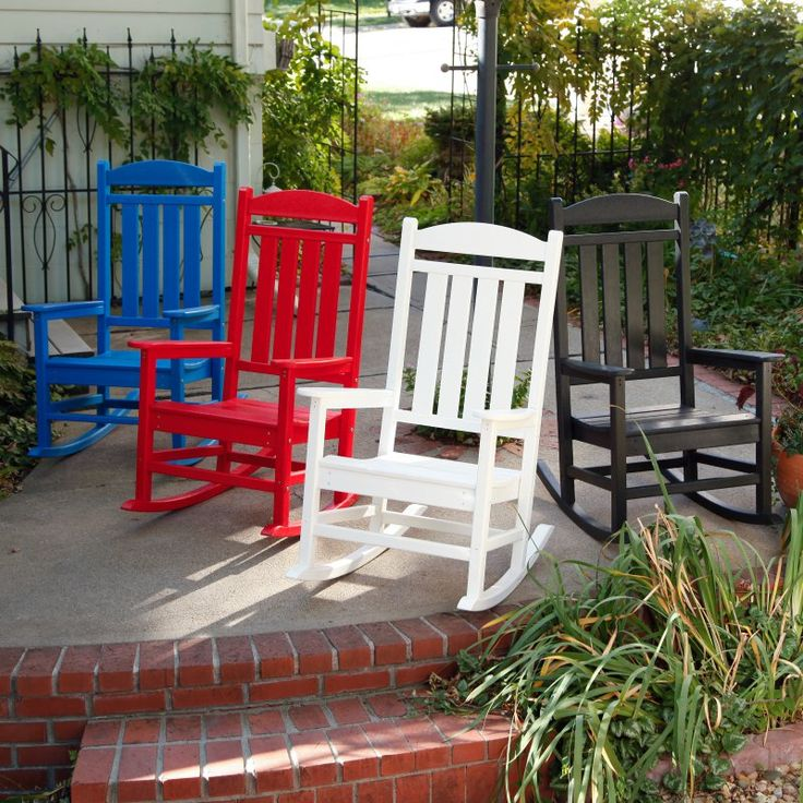 Outdoor POLYWOOD® Presidential Recycled Plastic Rocking Chair Green - R100GR