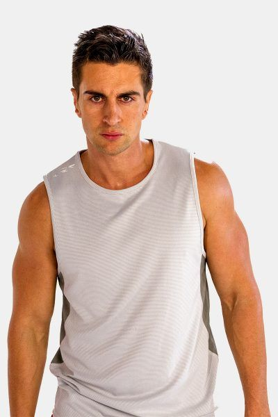 25% Discounts on This Comfy Greyish White #Tank #Tees for Men at Alanic Activewear.