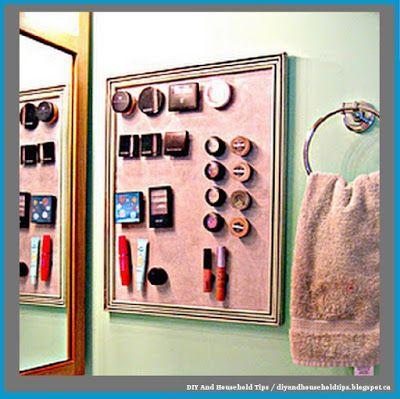 DIY And Household Tips: DIY Magnetic Makeup Board
