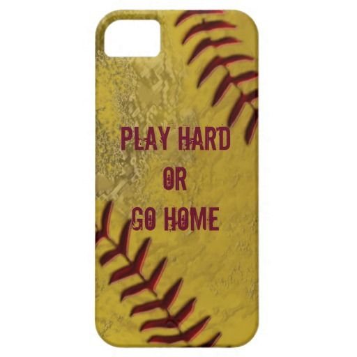 Play Hard and Get Dirty ~ or Play Hard or Go Home!  Either way, you will SAY IT with this well worn softball! CLICK HERE: http://www.zazzle.com/dirty_softball_iphone_cases_with_your_text-179541645905887795?rf=238997772289119810  Girls play it to win it!  You can opt to use your text or choose from over 300 fonts on this iPhone 5/5S Barely There cover.  For more VERY COOL Girls softball phone cases, check out Linda's store  CLICK HERE…