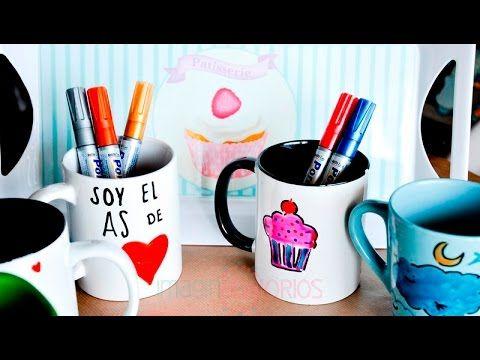 Decorar tazas de ceramica con rotuladores manualidades - Como decorar una taza ...