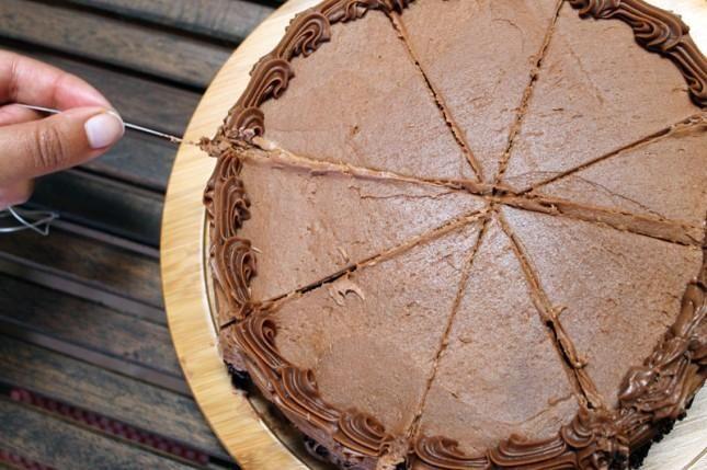 Snij taart en andere zachte dingen met flosdraad