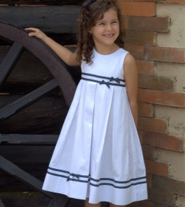 vive la fete - White Sailor Pleated Dress