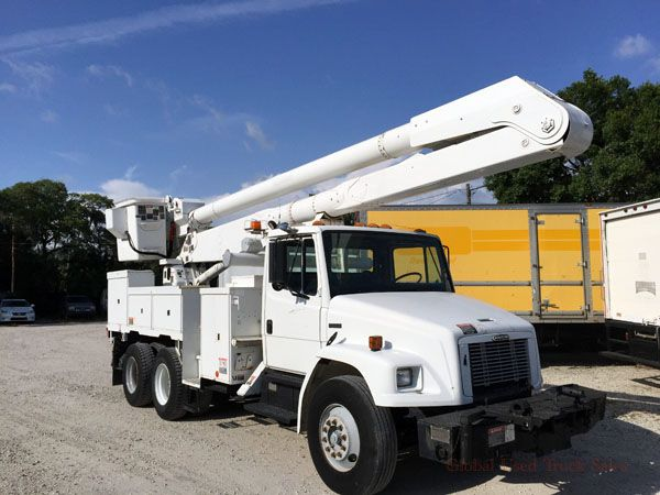 1998 Freightliner FL80 Boom Truck / Bucket Truck for Sale, Tandem Axle Bucket Truck 55′ Platform Height, 53,220 Lbs GVW, Tampa, FL   #buckettruck, #usedbuckettruck, #usedbuckettruckforsale, #usedbuckettruckforsaleinFlorida, #boomtruck, #usedboomtruck, #usedboomtruckforsale, #usedboomtruckforsaleinFlorida, #55ftboomtruck, #55ftplatformheight, #usedtruck, #freightlinerboomtruck, #freightlinerbuckettruck
