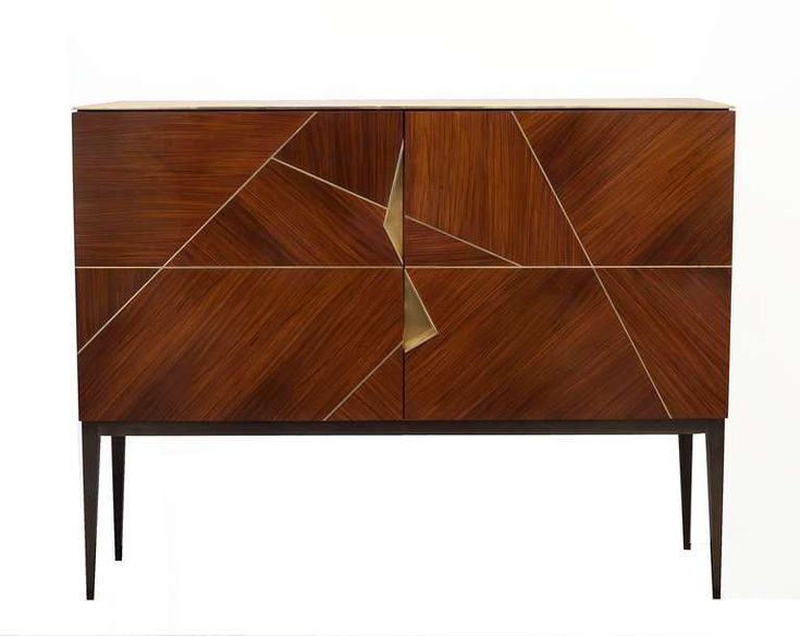 """Giò"" Royal Oak Marquetry Cabinet by Achille Salvagni at 1stdibs"