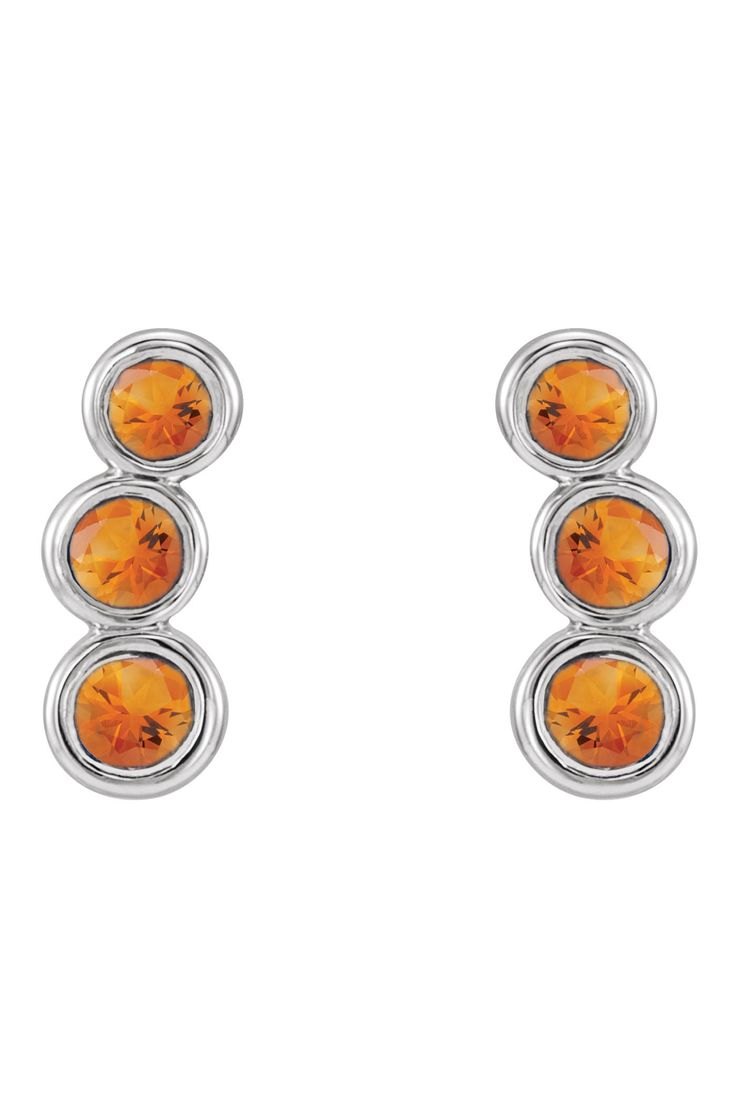 Celebrate November Birthdays with these Citrine Ear Climbers! Click through for product details or to locate a jeweler near you. #HBDNovember #HowIStuller