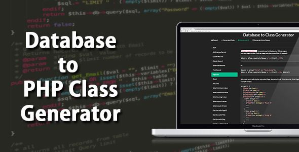 Database to PHP Class Generator