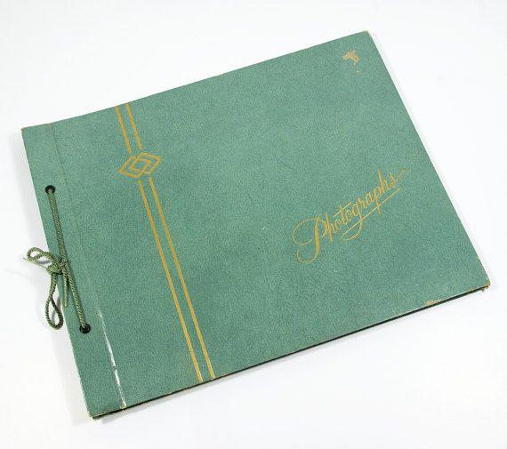 Vintage Photo Album Unused Turquoise Green by Flourisheshome #vintage #vintagebook #photoalbum #photographs #scrapbook #midcentury #gotvintage #book #photobook