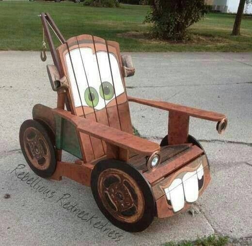 You Be Sitting Pretty On This Amazing Tow Mater Chair Try Fun DIY Today It A Great Weekend Project