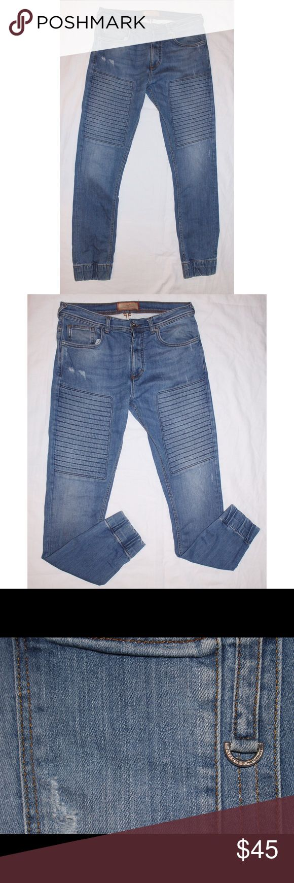 Zara Man Denim Jean Distressed Joggers 32x30 Zara Man Jeans