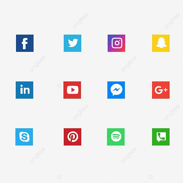 Icones De Medias Sociaux Icones De Medias Sociaux Des Medias Sociaux Logo De Medias Sociaux Image Png Pour Le Telechargement Libre Social Media Icons Twitter Icon Png Social Media Icons Free