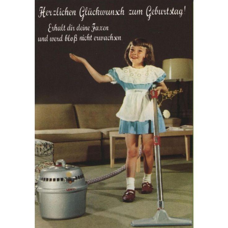 Schone Retro Postkarte Herzlichen Gluckwunsch Zum Geburtstag