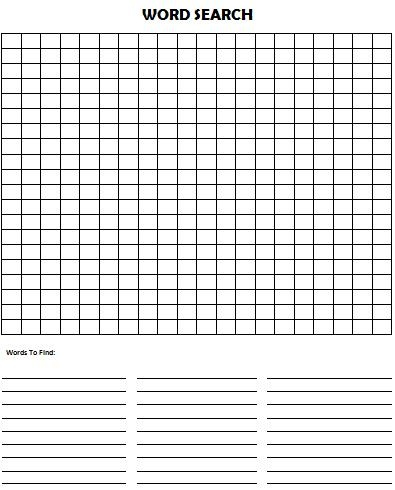 Kids Activity Idea - Make Your Own Word Search Puzzle