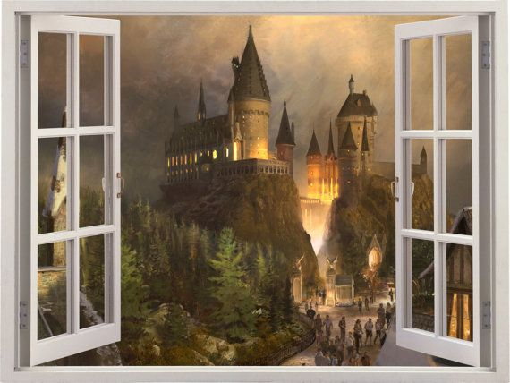 Hey, I found this really awesome Etsy listing at https://www.etsy.com/listing/248981545/harry-potter-hogwarts-3d-window-wall
