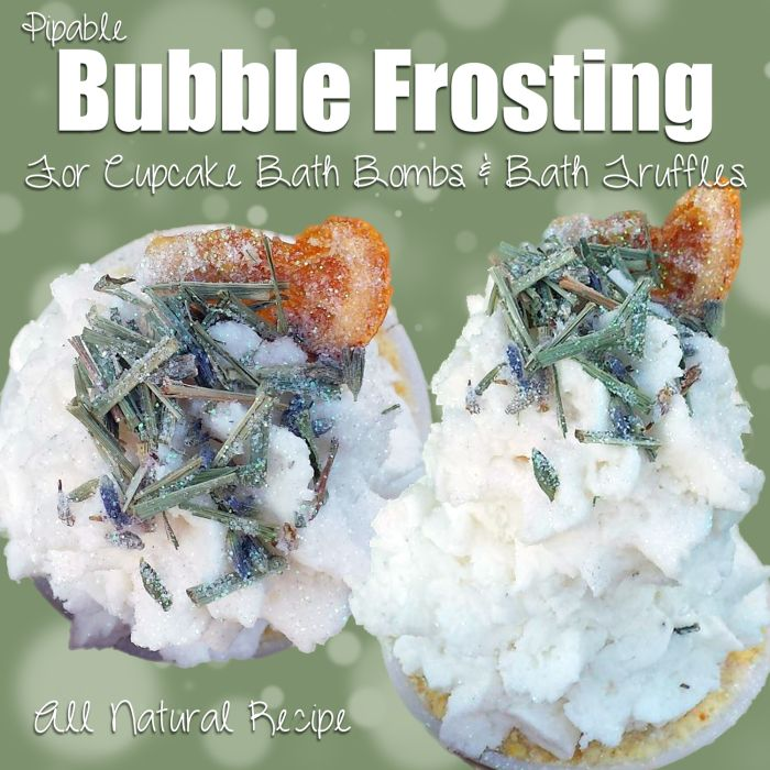 Recipe for Natural Bubble Frosting. (for bath bomb cupcakes) | The Herbal Healing Mama
