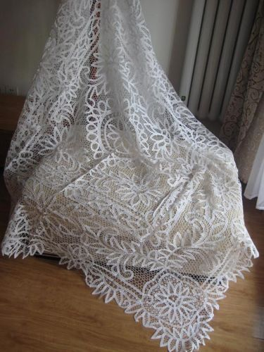 Vintage Handmade Full Battenburg Lace Tablecloth 66