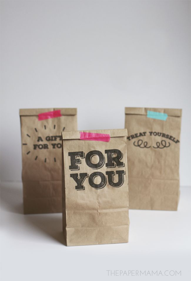 Day 8: Printable Paper Sack Gift Bags I really love this creation. Printing on things that aren't...