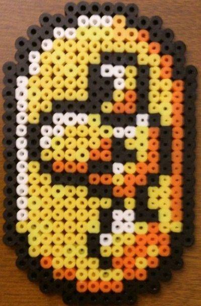 Yoshi Coin Perler Beads