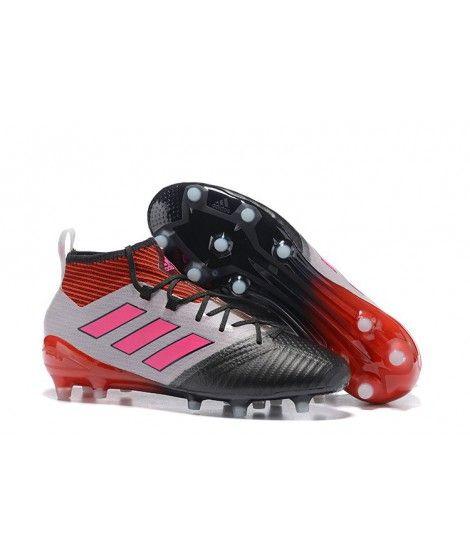 Adidas ACE 17.1 FG Tacchetti Per Terreni DuriUomo Scarpe Da Calcio Rosso Nero Rosa