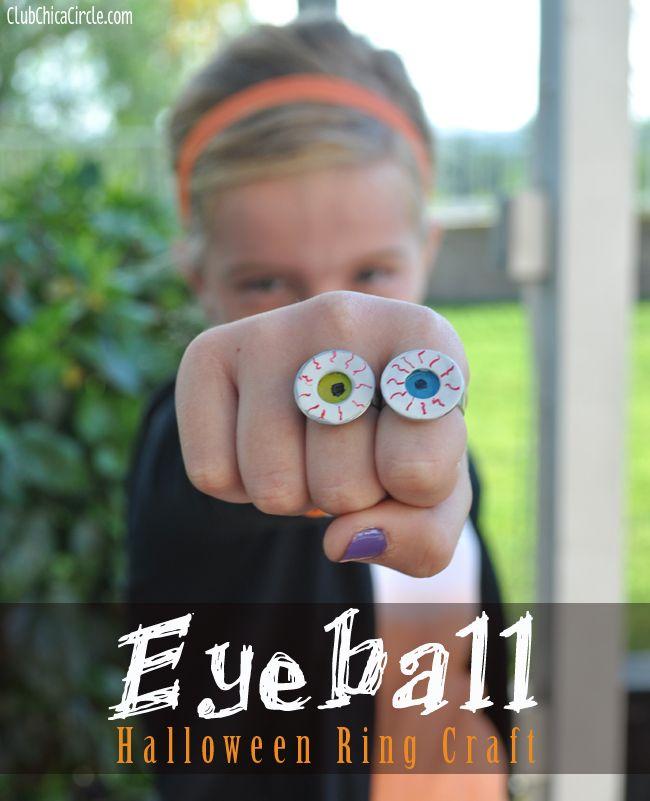 Eyeball homemade ring craft idea