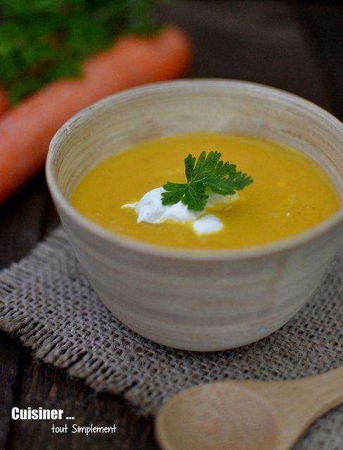 Velouté aux Carottes, Curry et Mascarpone - Cuisiner... tout Simplement, Le Blog de cuisine de Nathalie
