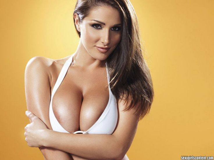 15 Beautiful Busty Brunette Lucy Pinder Pressing Boobs