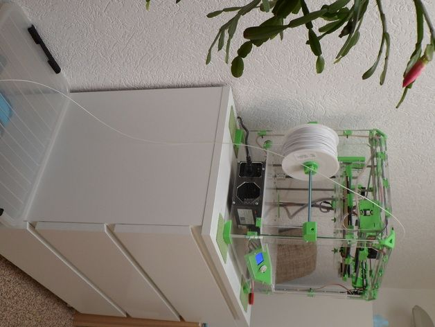Filament Spool Holder for 5 - 6 spools by Astrid3iD - Thingiverse