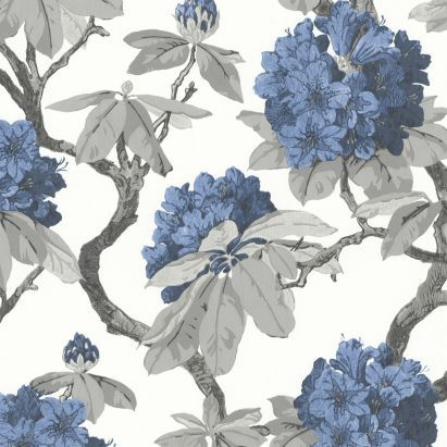 A.S. Creation Long Island Blue Floral Wallpaper - 62 Best Blue Hydrangea Everything... Images On Pinterest