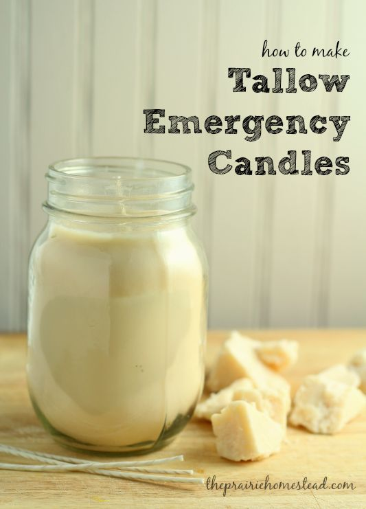 I love these homemade tallow candles to have on hand for power outages, or just when I'm craving the ambiance of a candle.