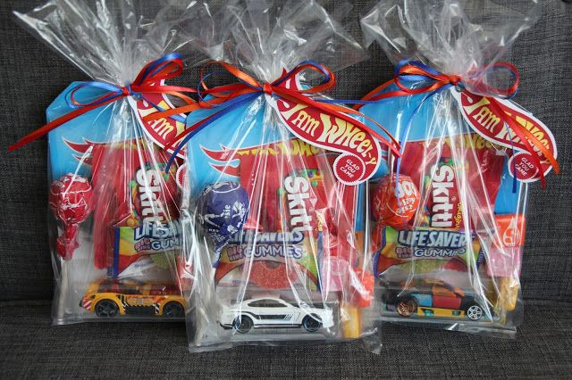 Hot Wheels Race Car Birthday Party Favor Special