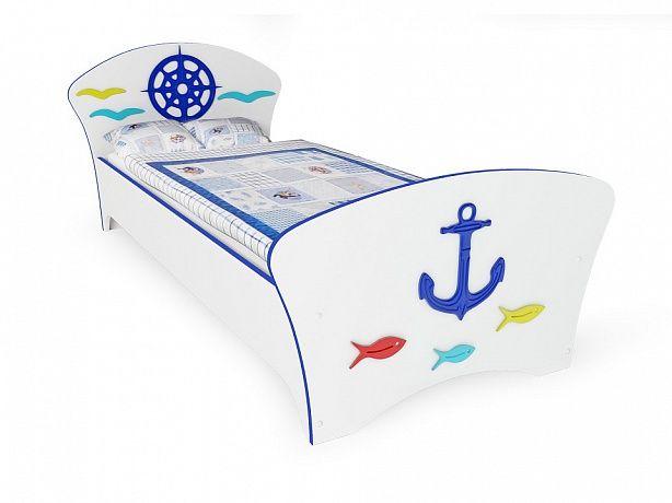 Кровать Соната Kids Якорь (синяя кромка)