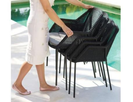 Breeze Stackable Outdoor Dining Chair by Strand & hvass For Cane-line