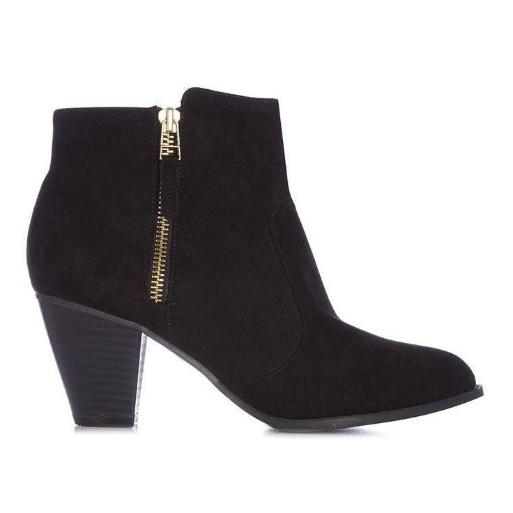 Botines negros con cremallera dorada  Categoría:#botas #primark_mujer #zapatos_mujer en #PRIMARK #PRIMANIA #primarkespaña  Más detalles en: http://ift.tt/2EmjbNT