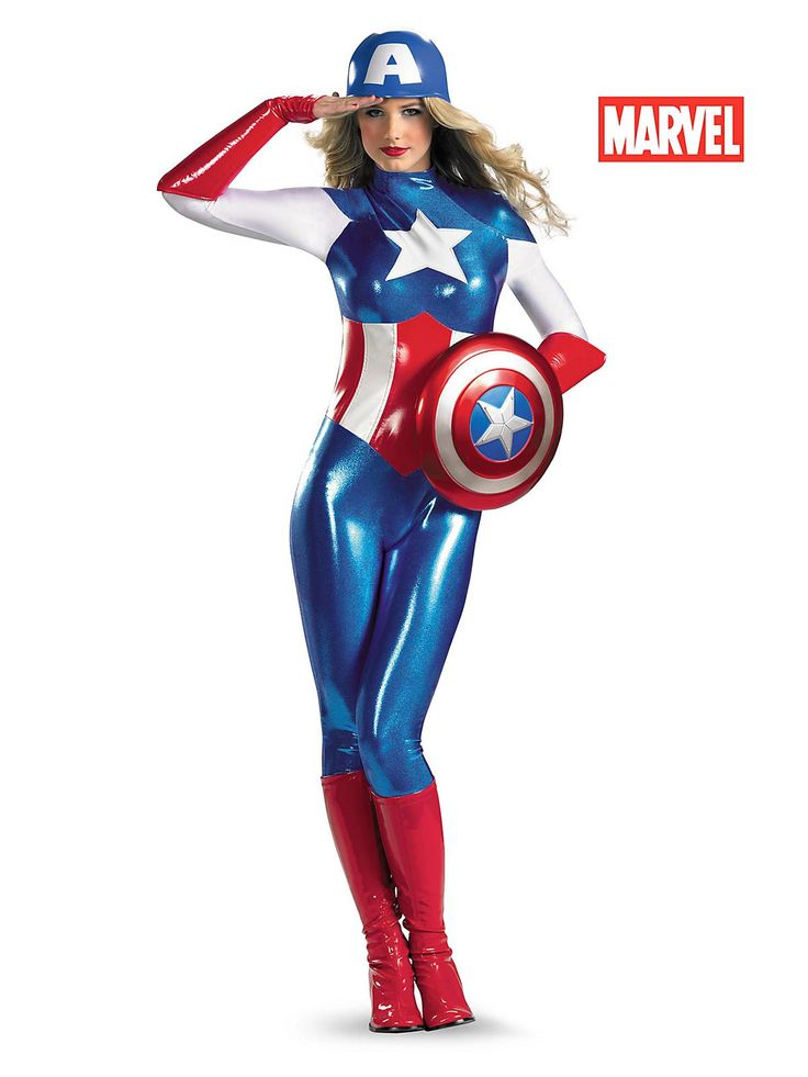 Marvel American Dream Bodysuit | Wholesale Captain America Costumes for Women