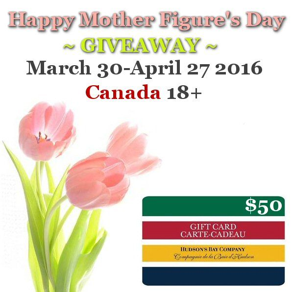 What's New Canada wants to help you Celebrate Mother's Day with a  $50 Hudson's Bay GC  CAN 18+ 4/27