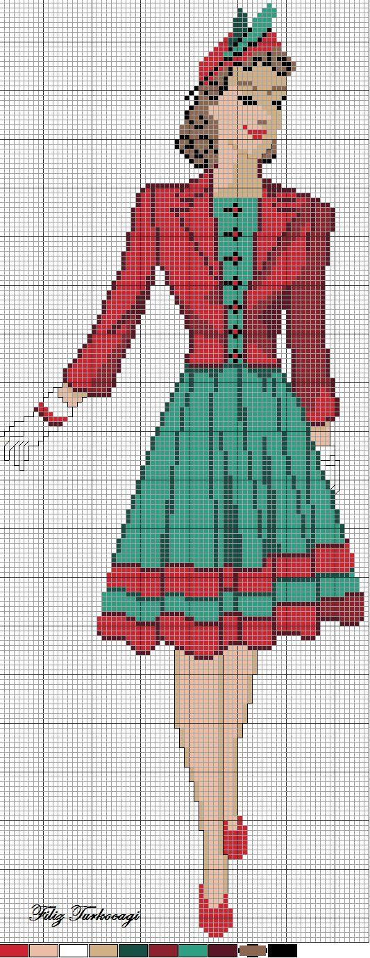 Eski Model Elbise: 2 ( vintage dress :2 ) Designed by Filiz Turkocagi...