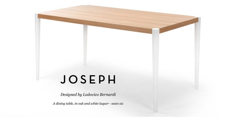 Joseph Dining Table in oak and white   made.com