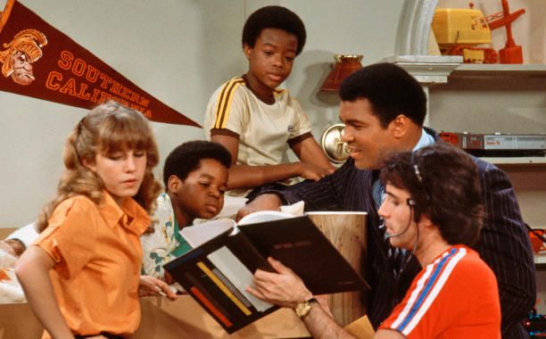 On Oct. 24, 1979, Muhammad Ali appeared on Diff'rent Strokes with man reading…