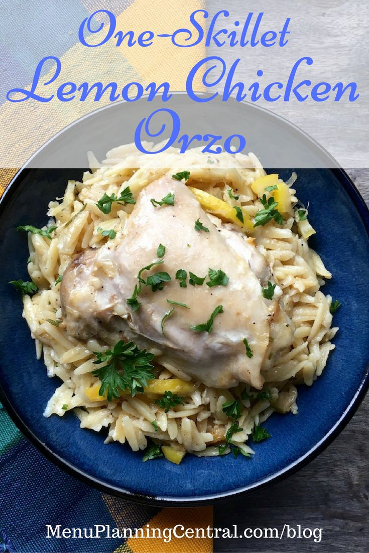 One-Skillet Lemon Chicken Orzo