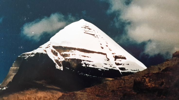 This photo is taken below the southern face of Mount Kailash. This is the traditional beginning of the pilgrims circumambulation route around the Mountain. See more at, http://www.amazon.com/Awareness-Comes-Knocking-Story-Shades-ebook/dp/B00B5PP6CQ