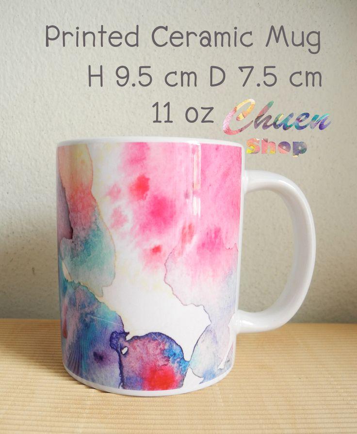 watercolor painting printed on Ceramic Mug. Artwork title : 'Stain'