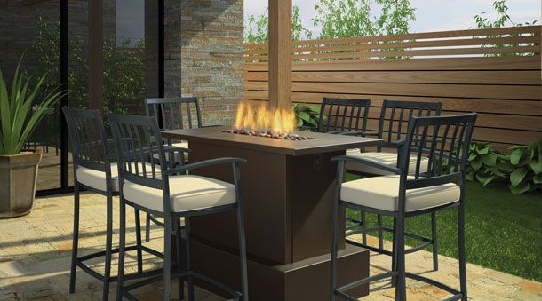 Bar Height Fire Table Fire Pits